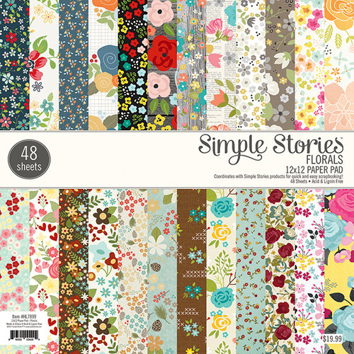 Simple Stories - 12 x 12 Paper Pad - Florals