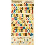 Memory Works - Simple Stories - Elementary Collection - Cardstock Stickers - Alphabet, CLEARANCE