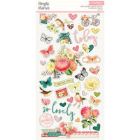 Simple Stories - Simple Vintage Garden District Collection - Chipboard Stickers