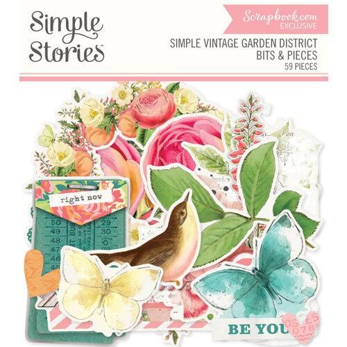 Simple Stories - Simple Vintage Garden District Collection - Ephemera - Bits and Pieces