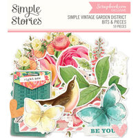 Simple Stories - Simple Vintage Garden District Collection - Ephemera - Bits and Pieces