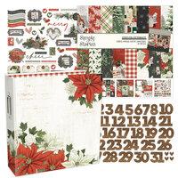 Simple Stories - Simple Vintage Rustic Christmas Collection - December Days - 6x8 Album Kit - 197 Piece Bundle