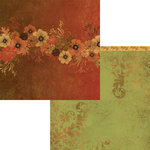 Moxxie - Autumn Glory Collection - 12 x 12 Double Sided Paper - Bountiful Bouquet