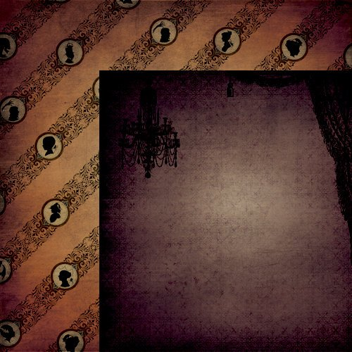 Moxxie - All Hallow's Eve Collection - Halloween - 12 x 12 Double Sided Paper - Haunted Mansion