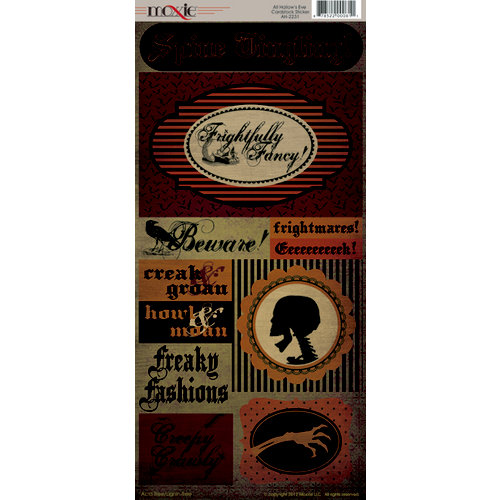 Moxxie - All Hallow's Eve Collection - Halloween - Cardstock Stickers - Elements