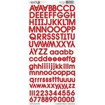 Moxxie - Cardstock Stickers - Alphabet - Red