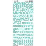 Moxxie - Cardstock Stickers - Alphabet - Turquoise