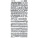 Moxxie - Cardstock Stickers - Alphabet - Grey