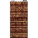 Moxxie - Cardstock Stickers - Alphabet - Parchment