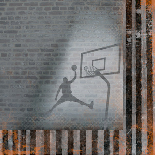 Moxxie - Basketball Collection - 12 x 12 Double Sided Paper - Slam Dunk