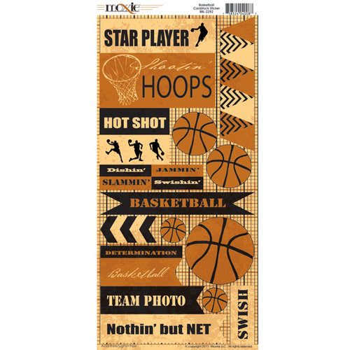 Moxxie - Basketball Collection - Cardstock Stickers