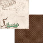 Moxxie - At the Ballpark Collection - 12 x 12 Double Sided Paper - Batter Up