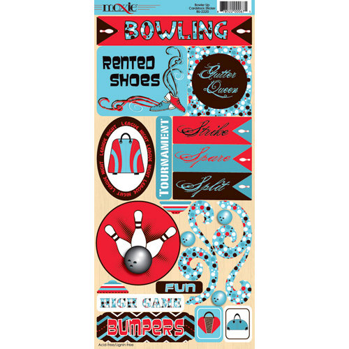 Moxxie - Bowler Up Collection - Cardstock Stickers - Elements