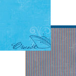 Moxxie - Bon Voyage Collection - 12 x 12 Double Sided Paper - Cruise