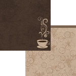 Moxxie - Coffee Addict Collection - 12 x 12 Double Sided Paper - Java