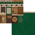Moxxie - Coffee Addict Collection - 12 x 12 Double Sided Paper - Coffee Cutouts