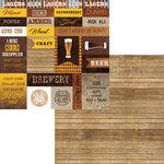 Moxxie - Craft Brew Collection - 12 x 12 Double Sided Paper - Craft Brew Cutout