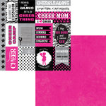 Moxxie - Cheerleading Collection - 12 x 12 Double Sided Paper - Cheerleading Cutouts
