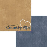 Moxxie - Country Chic Collection - 12 x 12 Double Sided Paper - Country Girl