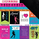 Moxxie - Dance Life Collection - 12 x 12 Double Sided Paper - Dance Life Cutouts