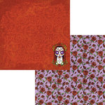 Moxxie - Day of the Dead Collection - Halloween - 12 x 12 Double Sided Paper - Rose Adorned