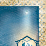 Moxxie - Faith Collection - 12 x 12 Double Sided Paper - Nativity