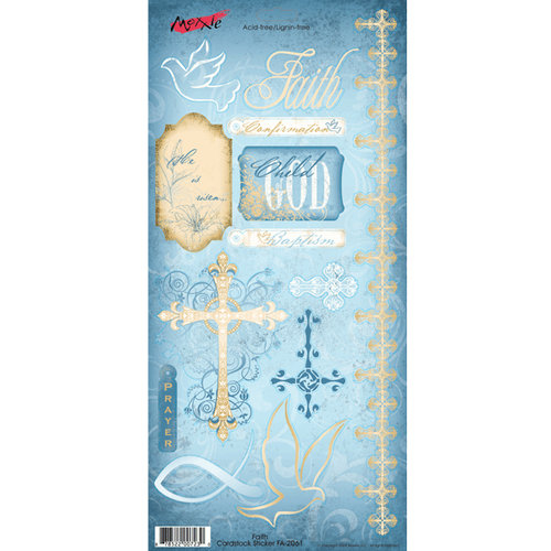 Moxxie - Faith Collection - Cardstock Stickers - Elements