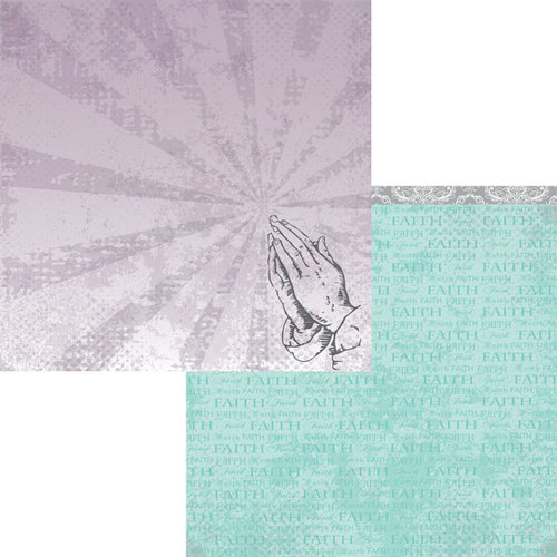 Moxxie - Faith Collection - 12 x 12 Double Sided Paper - Pray