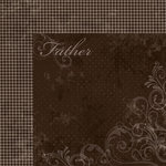 Moxxie - Forever Family Collection - 12 x 12 Double Sided Paper - Father
