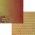Moxxie - Fall Harvest Collection - 12 x 12 Double Sided Paper - Orchard
