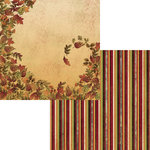 Moxxie - Fall Harvest Collection - 12 x 12 Double Sided Paper - Wind Blown
