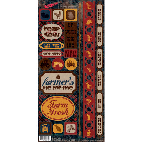 Moxxie - Farm Livin' Collection - Cardstock Stickers - Elements
