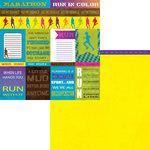 Moxxie - Fun Run Collection - 12 x 12 Double Sided Paper - Fun Run Cutouts