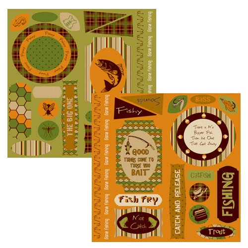 Moxxie - Fish Stories Collection - Cardstock Die Cuts