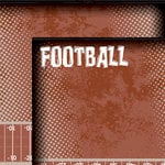 Moxxie - Grid Iron Collection - 12 x 12 Double Sided Paper - Football Title