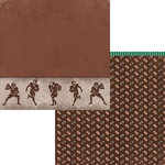Moxxie - Grid Iron Collection - 12 x 12 Double Sided Paper - Quarterback