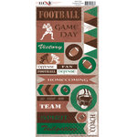 Moxxie - Grid Iron Collection - Cardstock Stickers - Football