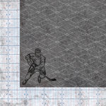 Hockey Collection - 12 x 12 Double Sided Paper - Slapshot by Moxxie