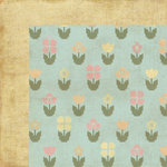 Homespun Easter Collection - 12 x 12 Double Sided Paper - Bloomin by Moxxie