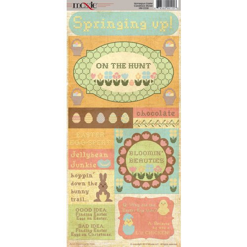 Homespun Easter Collection - Cardstock Stickers - Elements by Moxxie