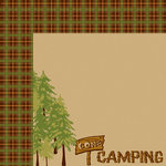 Moxxie - Happy Camper Collection - 12 x 12 Double Sided Paper - Gone Camping
