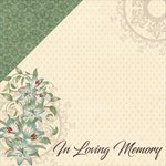 Moxxie - In Memory Collection - 12 x 12 Double Sided Paper - In Loving Memory
