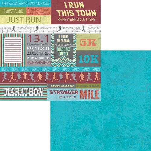 Moxxie - Marathon Collection - 12 x 12 Double Sided Paper - Marathon Cutout