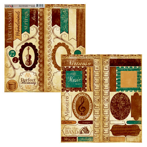 Moxxie - Musically Inclined Collection - Cardstock Die Cuts