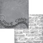 Moxxie - Music In Me Collection - 12 x 12 Double Sided Paper - Choir