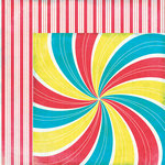 Moxxie - Midway Madness Collection - 12 x 12 Double Sided Paper - Funburst