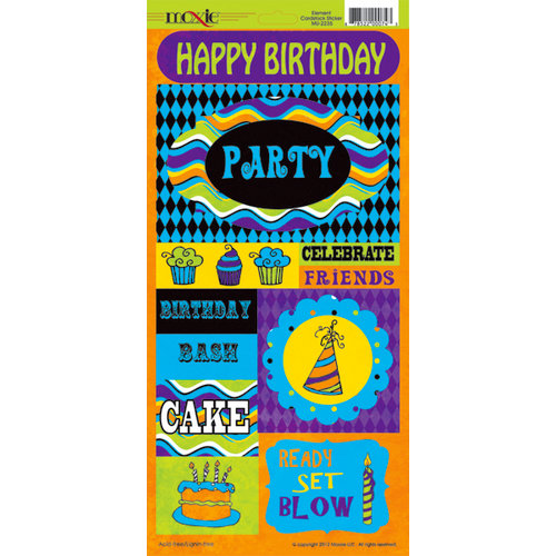 Moxxie - Very Merry Unbirthday Collection - Cardstock Stickers - Elements