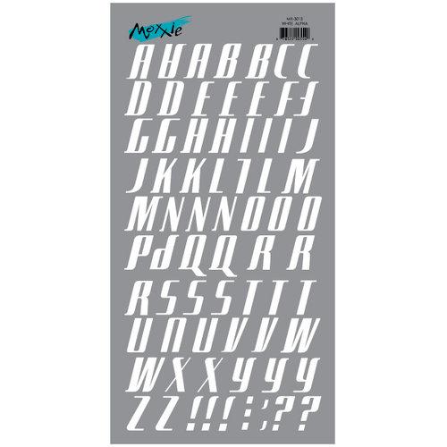 Moxxie - Rub Ons - Alphabet - White