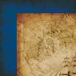Moxxie - Nautical Collection - 12 x 12 Double Sided Paper - Explore