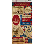 Moxxie - Nautical Collection - Cardstock Stickers - Elements